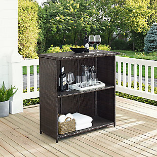 Crosley Palm Harbor Outdoor Wicker Bar, , rollover