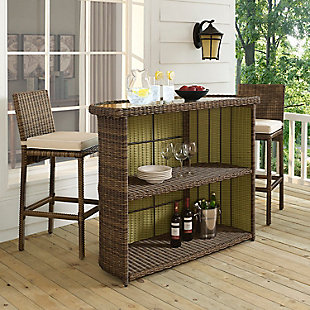 Crosley Bradenton Outdoor Wicker Bar, , rollover