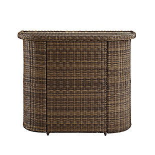 Crosley Bradenton Outdoor Wicker Bar, , large
