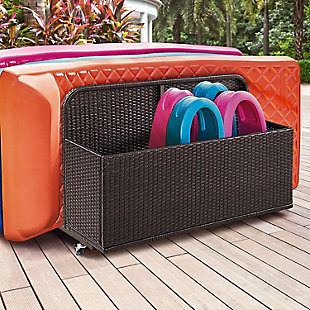 Crosley Palm Harbor Outdoor Wicker Float Caddy, , rollover