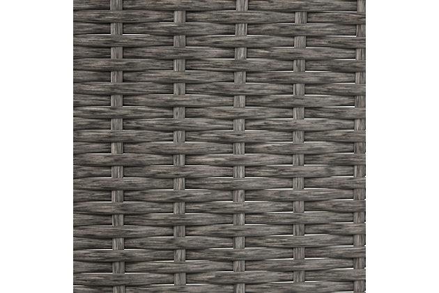 Crosley Palm Harbor Outdoor Wicker Float Caddy, Black/Gray, large