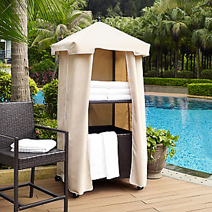 Crosley Palm Harbor Outdoor Wicker Towel Valet, , rollover