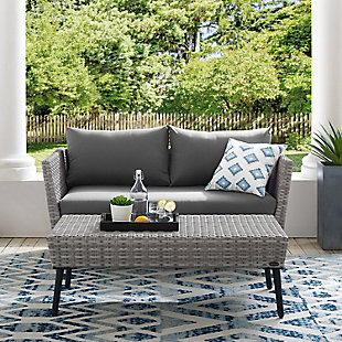 Crosley Richland 2-piece Outdoor Wicker Chat Set, , large