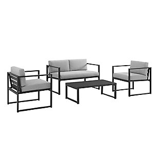 Crosley Hamilton 4-Piece Conversation Set, , large