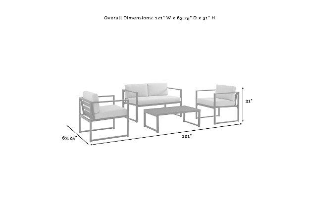 Crosley Hamilton 4-Piece Conversation Set, , large