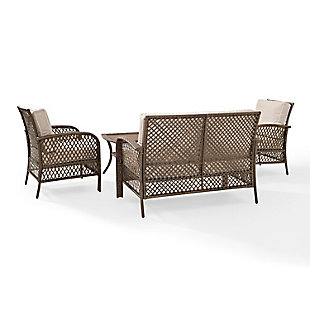 Crosley Tribeca 4-Piece Outdoor Wicker Conversation Set, , large