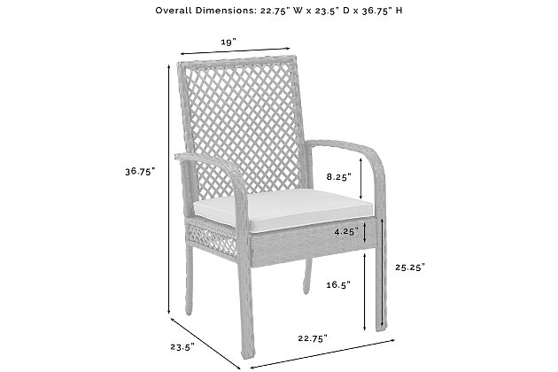 Crosley Tribeca Outdoor Wicker Dining Chair (Set of 4), , large