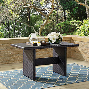 Crosley Palm Harbor Outdoor Wicker Cocktail Table, , rollover