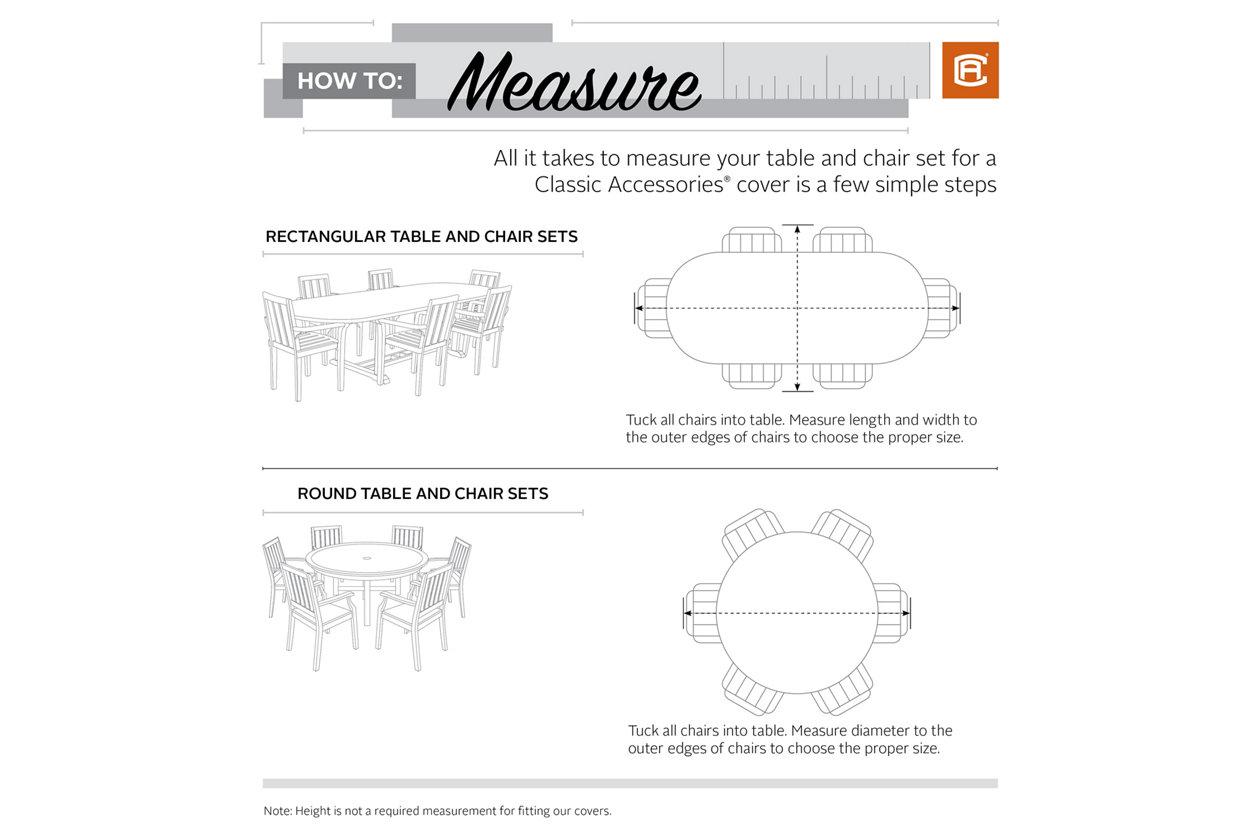 X-Large Ravenna Rectangular//Oval Patio Garden Table /& Chair Set Cover