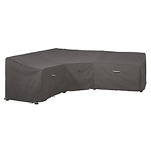 "Classic Accessories Ravenna Water-Resistant 100"" Patio V-Shaped Sectional Lounge Set Cover, , large"