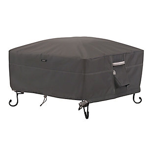 """Classic Accessories Ravenna Water-Resistant 30"""" Square Fire Pit Cover, , large"""