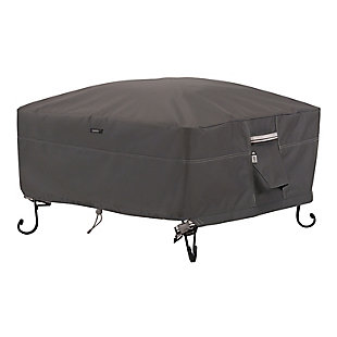 """Classic Accessories Ravenna Water-Resistant 36"""" Square Fire Pit Cover, , large"""