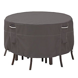 """Classic Accessories Ravenna Water-Resistant 60"""" Tall Round Patio Table & Chair Set Cover, , large"""