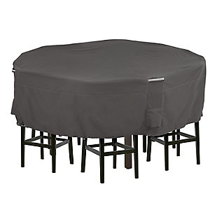 Classic Accessories Ravenna Water-Resistant Tall Round Patio Table and Chair Cover, , large