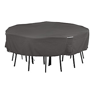 Classic Accessories Ravenna Water-Resistant Square Patio Table and Chair Cover, , large