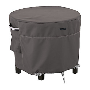 Classic Accessories Ravenna Water-Resistant Round Patio Ottoman/Table Cover, , large