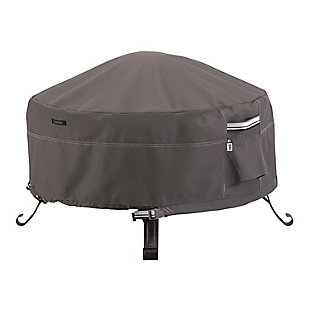 Classic Accessories Ravenna Water-Resistant Round Full Coverage Fire Pit Cover, , large