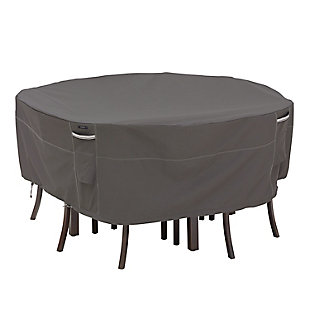 Classic Accessories Ravenna Water-Resistant Round Patio Table and Chair Set Cover, , large