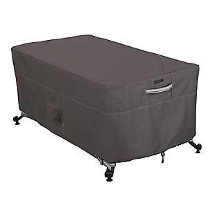 """Classic Accessories Ravenna Water-Resistant 56"""" Rectangular Fire Pit Table Cover, , large"""