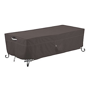 Classic Accessories Ravenna Water-Resistant Rectangular Fire Pit Table Cover, , large