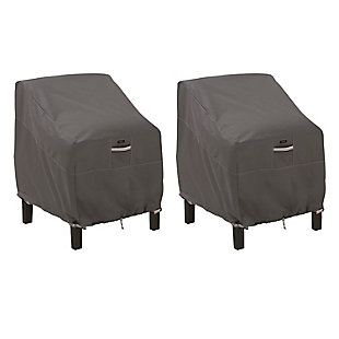 Classic Accessories Ravenna Water-Resistant Patio Lounge Chair Cover (2-Pack), , large