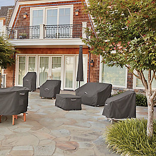 """Classic Accessories Ravenna Water-Resistant 60"""" Square Patio Table Cover, , rollover"""