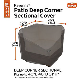 Classic Accessories Ravenna Water-Resistant Deep Seated Corner Sectional Cover, , large