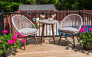 Linon Brooks 3-Piece Bistro Indoor/Outdoor Set, , rollover