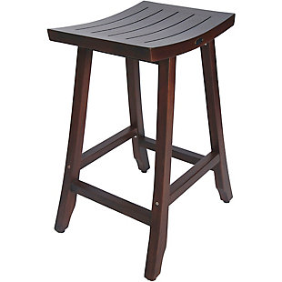 "DecoTeak Satori Teak 30"" Indoor/Outdoor Bar Stool, , rollover"