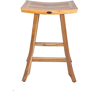 "EcoDecors EarthyTeak Satori Teak 30"" Indoor/Outdoor Bar Stool, , large"