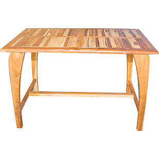 EcoDecors Tranquility Teak Indoor/Outdoor Dining Table, , large