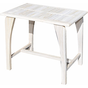 EcoDecors Coastal Vogue Tranquility Driftwood Dining Table, , rollover