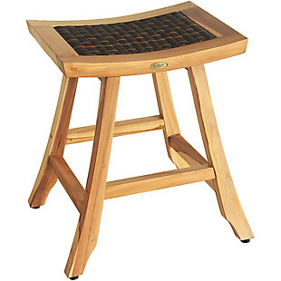"EcoDecors Earthy Teak 24"" Bar Stool, , large"