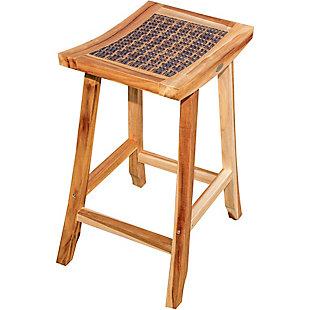 "EcoDecors EarthyTeak 30"" Bar Stool, , large"