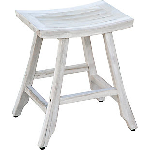 "EcoDecors Coastal Vogue Satori Teak Indoor/Outdoor 24"" Bistro Stool, , large"