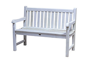 Coastal Vogue Hampstead Heath Teak Wood Outdoor Bench, , large