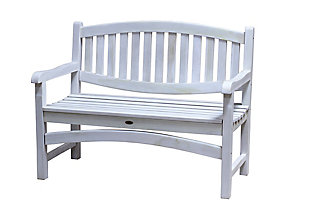 Coastal Vogue Kent Garden Teak Wood Outdoor Bench, , large