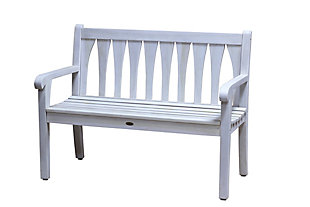 Coastal Vogue Tranquility Teak Wood Outdoor Bench, , large
