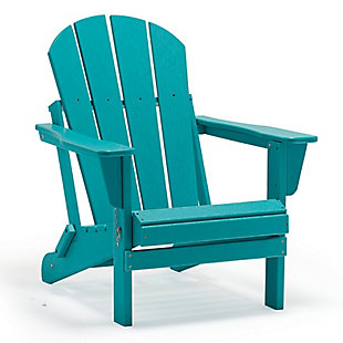 Venice Folding Outdoor Poly Adirondack Chair, Turquoise, large
