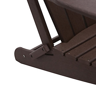 Venice Folding Outdoor Poly Adirondack Chair, Brown, large