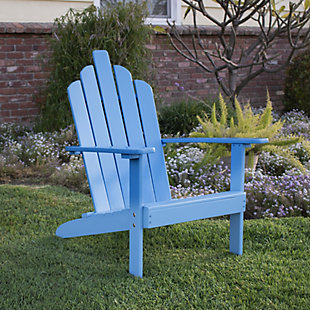 Westin Patio Wood Adirondack Chair, Blue, rollover