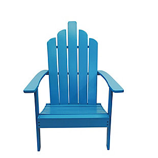 Westin Patio Wood Adirondack Chair, Blue, large