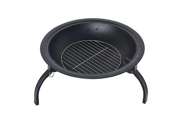 Westin Steel Wood Burning Fire Pit, , large