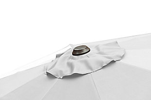 Henley 10' Outdoor Cantilever Hanging Patio Umbrella, White, large