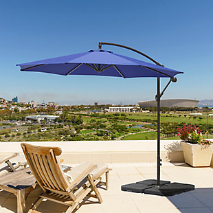 Henley 10' Outdoor Cantilever Hanging Patio Umbrella, Blue, rollover