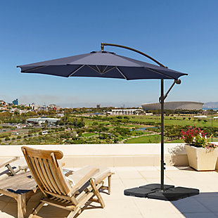 Henley 10' Outdoor Cantilever Hanging Patio Umbrella, Navy, rollover
