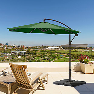 Henley 10' Outdoor Cantilever Hanging Patio Umbrella, Green, rollover