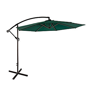 Westin 10 ft. Cantilever Hanging Patio Umbrella, Green, large