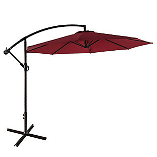 Westin 10 ft. Cantilever Hanging Patio Umbrella, Red, large