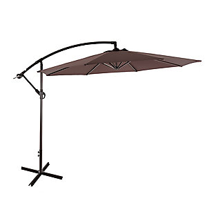 Westin 10 ft. Cantilever Hanging Patio Umbrella, Brown, large